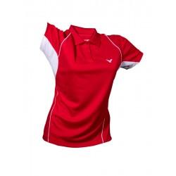 VICTOR Poloshirt female 6035, rot, Größe XS