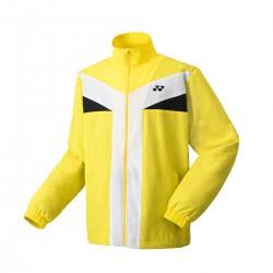 YONEX Men's Warm-up Jacket, Club Team YM0020 Light Yellow