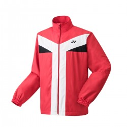 YONEX Men's Warm-up Jacket, Club Team YM0020 Sunset Red