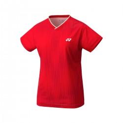 YONEX Women's Crew Neck Shirt YW0026 Ruby Red