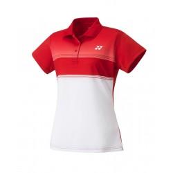 YONEX Women's Polo Shirt, Club Team YW0019 Sunset Red