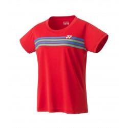 YONEX Women's Crew Neck T-Shirt, Club Team YW0022 Sunset Red