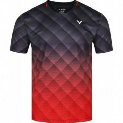 VICTOR unisex T-Shirt T-13100 C - schwarz-rot