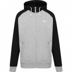 VICTOR unisex Sweater Jacket V-13400 H - schwarz-grau