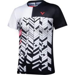 VICTOR T-Shirt T-11007 C - schwarz-weiß