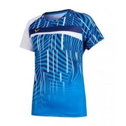 VICTOR T-Shirt T-11003 blau-schwarz, Gr. XS