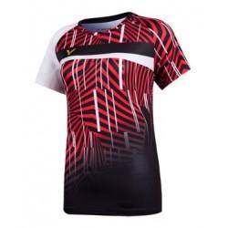 VICTOR T-Shirt T-11003 rot-schwarz, Gr. XS