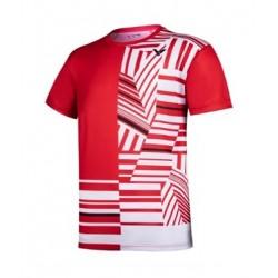 VICTOR T-Shirt T-10002 TD rot-weiß, Gr. M