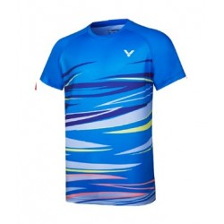 VICTOR T-Shirt T-10031 blau, Gr. M